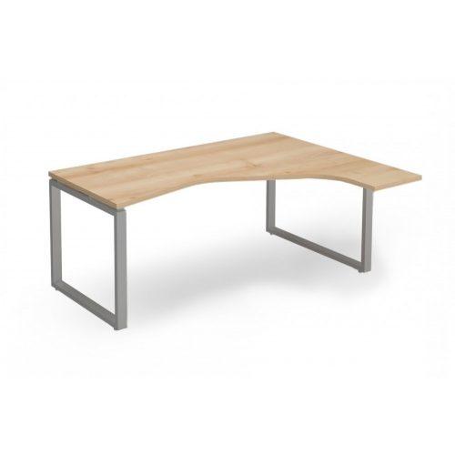 """EX-HE-158/140-J-FL2   """"L"""" alakú operatív asztal FL2 fémlábbal, jobbos kivitelben"""