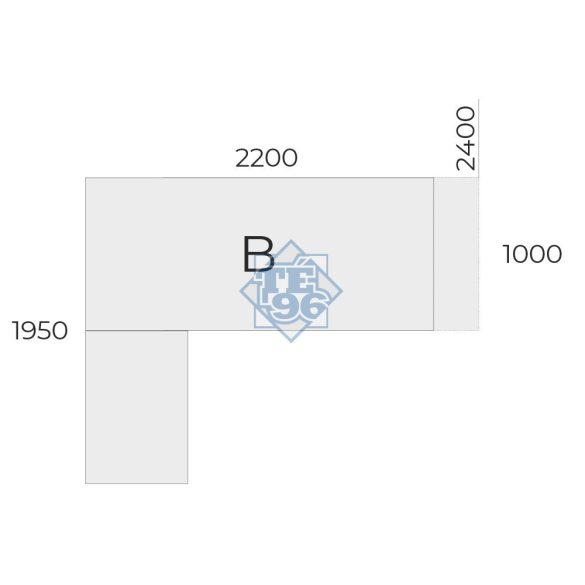 EX-IM-240/195-B vezetői asztal