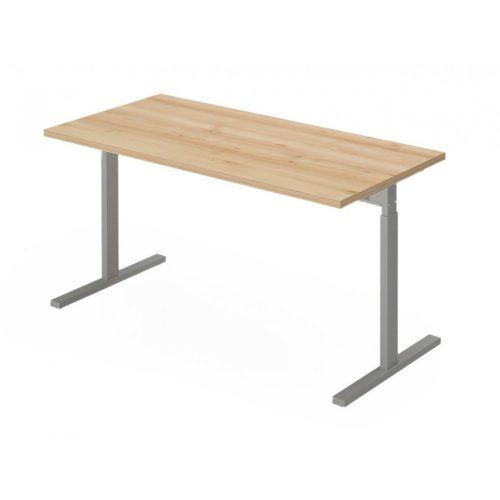 EX-IS-158/68-FL6   Szögletes, sarkos íróasztal magasságban állítható FL6 fémlábbal