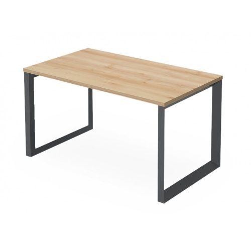 EX-IS-158/80-FL11  Hagyományos kialakítású, szögletes megjelenésű íróasztal FL11 fémlábbal, 158 x 80 cm-es méretben