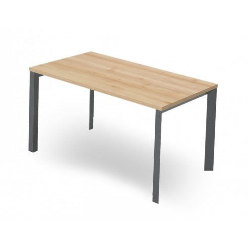 EX-IS-158/80-FL3  Hagyományos megjelenésú, sarkos íróasztal FL3 fémlábbal, 158 x 80 cm-es méretben
