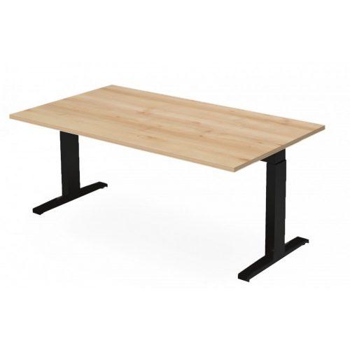 EX-IS-178/100-FL7    Vezetői íróasztal szögletes formával, állítható magasságú FL7 lábbal