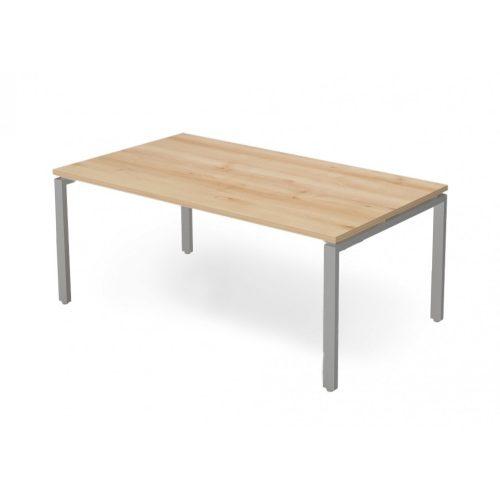 EX-IS-198/100-FL1  Vezetői íróasztal szögletes, sarkos kivitelben FL1 fémlábbal, 198 x 100 cm-es méretben