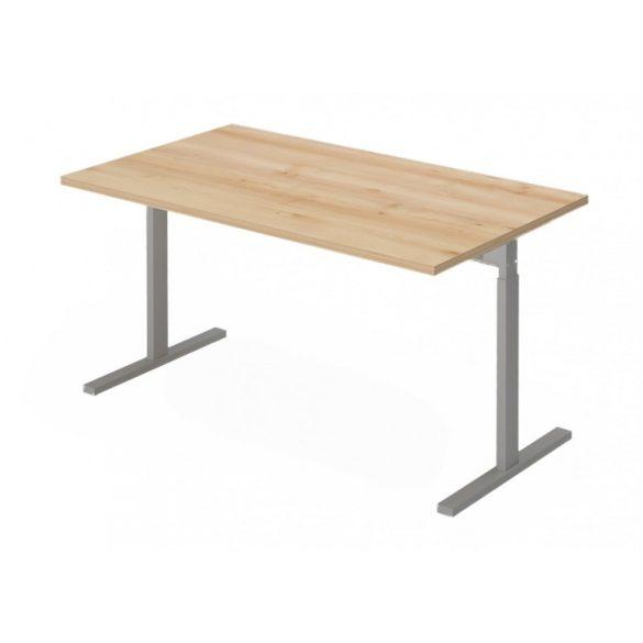 EX-IS-198/80-FL6   Szögletes, sarkos íróasztal magasságban állítható FL6 fémlábbal