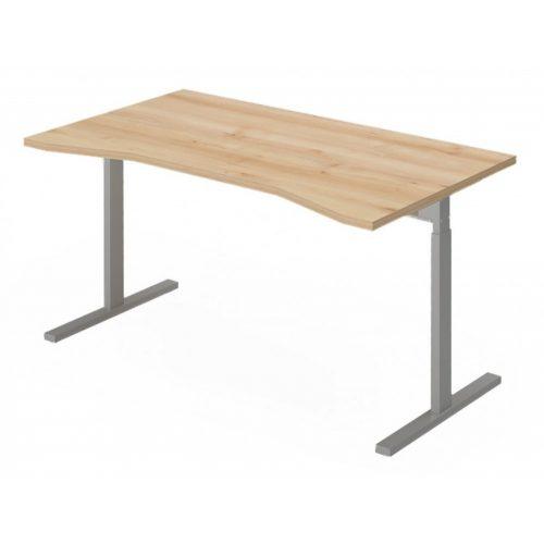 EX-IZ-158/80-FL6   Sarkos íróasztal belsőoldali kivágással, magasságban állítható FL6 fémlábbal