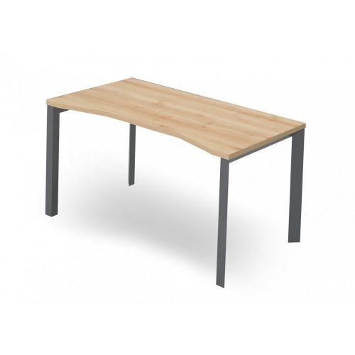 EX-IZ-178/80-FL3  Hagyományos megjelenésú íróasztal FL3 fémlábbal belsőoldali íves kialakítással, 178 x 80 cm-es méretben