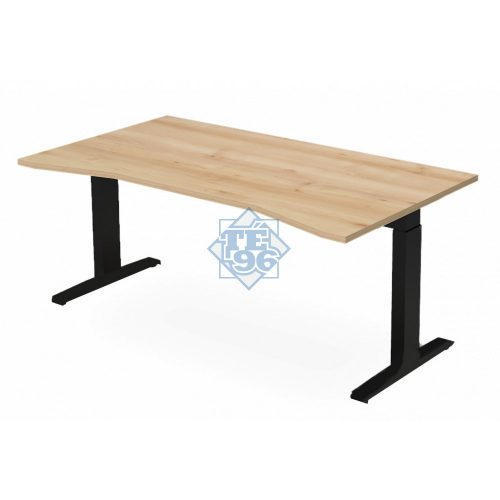 EX-SI-178/100-FL7   Vezetői íróasztal belső kivágással, állítható magasságú FL7 lábbal