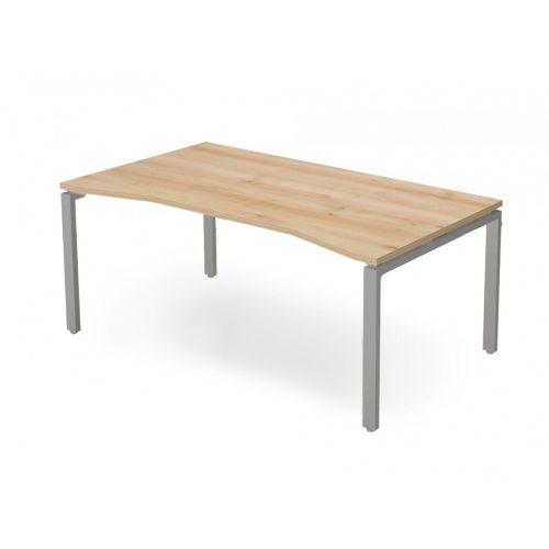 EX-SI-198/100-FL1  Szögletes vezetői íróasztal belsőoldali íves kiképzéssel és FL1 fémlábbal, 198 x 100 cm-es méretben