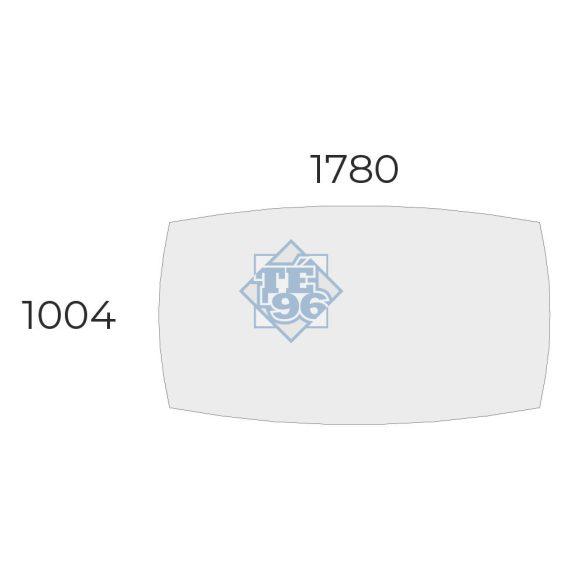 EX-TB-178/100-FL11   Ívszegmens oldalú tárgyalóasztal, FL11 fémlábbal