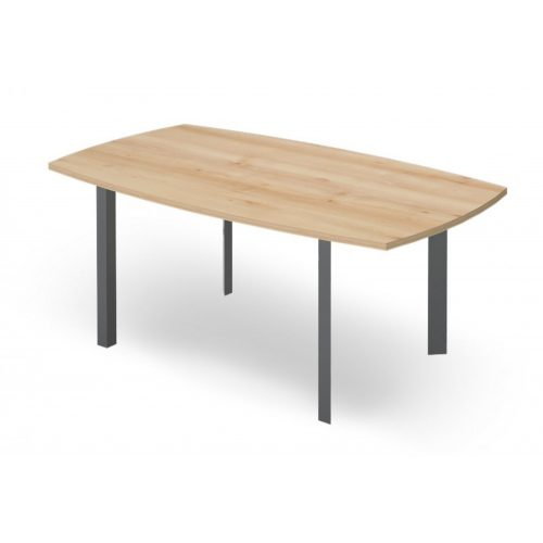 EX-TB-178/100-FL3  Elegáns tárgyalóasztal FL3 fémlábbal, ívszegmens oldalakkal, 178 x 100 cm-es méretben
