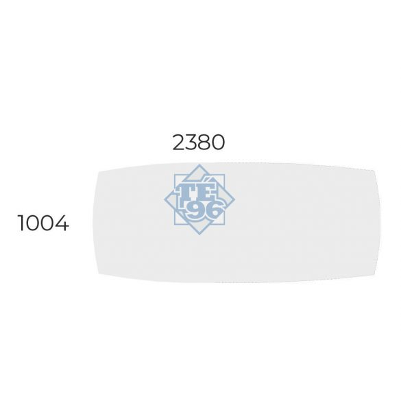 EX-TB-238/100-FL8 Elegáns tárgyalóasztal fémlábakkal és ívszegmens oldalakkal