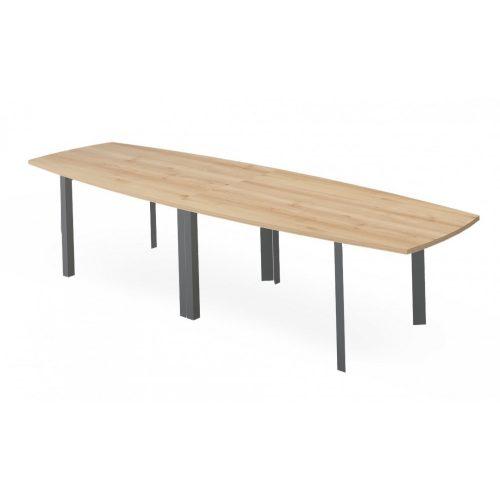 EX-TB-320/100-FL3  Elegáns tárgyalóasztal FL3 fémlábbal, ívszegmens oldalakkal, 320 x 100 cm-es méretben