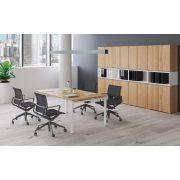 EX-TC-138/100-FL1  Hagyományos, szögletes sarkos tárgyalóasztal FL1 fémlábbal, 138 x 100 cm-es méretben