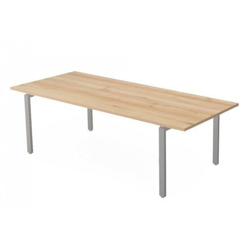 EX-TC-238/100-FL1  Hagyományos, szögletes sarkos tárgyalóasztal FL1 fémlábbal, 238 x 100 cm-es méretben