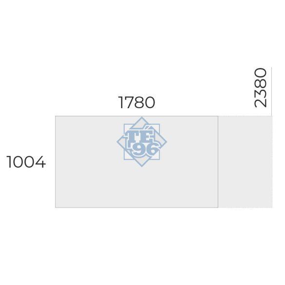 EX-TC-238/100-FL2   Szögletes formájú tárgyalóasztal FL2 fémlábbal, 238 x 100 cm-es méretben