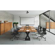 EX-TC-320/100-FL8  Hagyományos megjelenésű szögletes tárgyalóasztal FL8 fémlábbal, 320 x 100 cm-es méretben