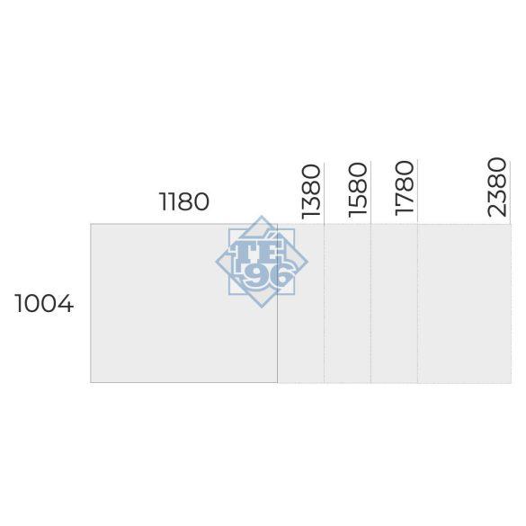 EX-TCK-158/100 szögletes tárgyalóasztal
