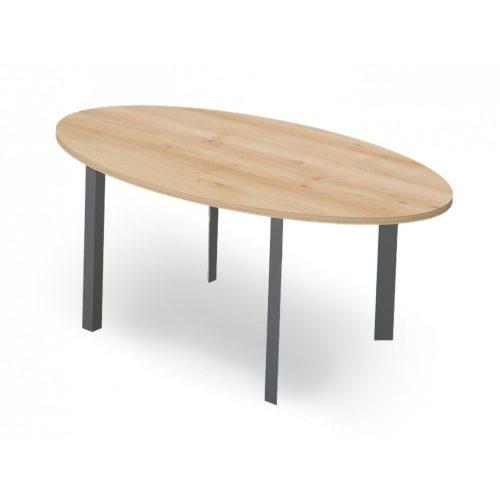 EX-TD-178/110-FL3  Ovális tárgyalóasztal FL3 fémlábbal, 178 x 110 cm-es méretben