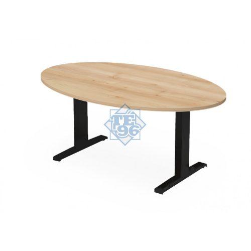 EX-TD-178/110-FL7   Ovális alakú tárgyalóasztal FL7 fémlábbal, 178 x 110 cm-es méretben