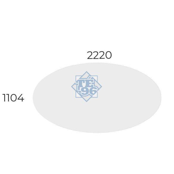 EX-TD-220/120-FL11   Ovális kialakítású tárgyalóasztal, FL11 fémlábbal