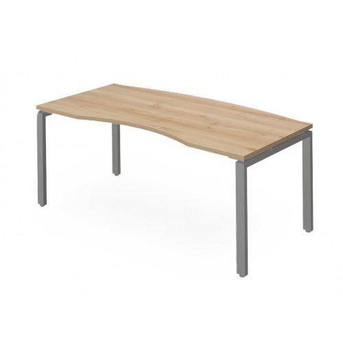 EX-VE-178/90-FL1  Elegáns vezetői íróasztal íves kiképzéssel és FL1 fémlábbal, 178 x 90 cm-es méretben