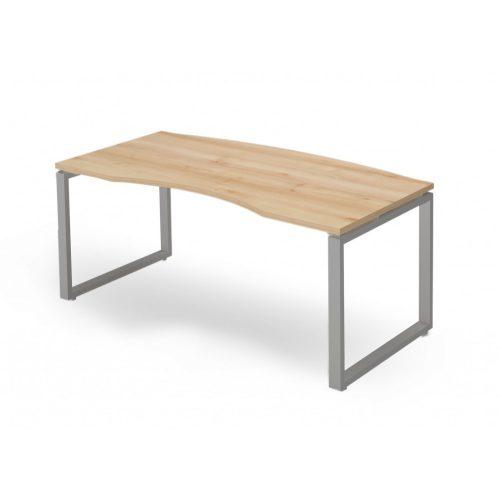 EX-VE-178/90-FL2   Vezetői asztal íves asztallappal, FL2 fémlábbal, 178  x 90 cm-es méretben