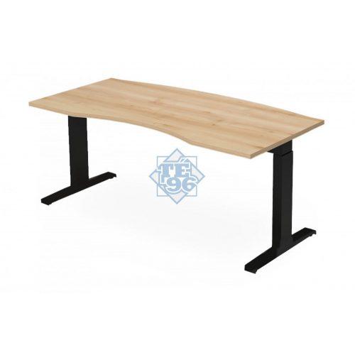 EX-VE-178/90-FL7   Vezetői íróasztal íves kialakítássall, állítható magasságú FL7 lábbal