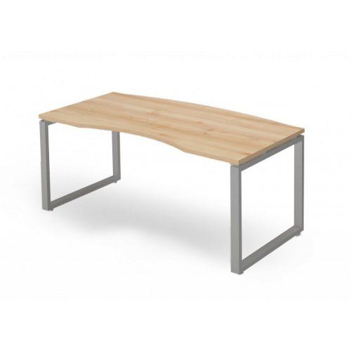 EX-VE-198/90-FL2   Vezetői asztal íves asztallappal, FL2 fémlábbal, 198  x 90 cm-es méretben