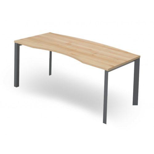 EX-VE-198/90-FL3 Vezetői íróasztal íves belső oldallal, 198 x 90 cm-es méretben, FL3 fémlábbal