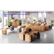 GB-180/140-B íróasztal (180 x 140 cm-es íves operatív)