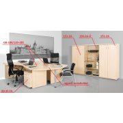 GB-200/120-J számítógépasztal (200 x 120 cm-es íves)