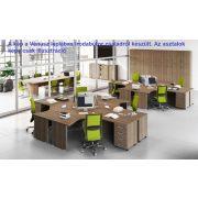 GF-200/120-B íróasztal tárgyalóvéggel