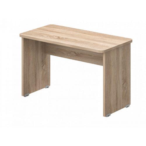 KK-140/62   Laplábas íróasztal kétoldalon kerekített sarkokkal, 14 x 62 cm-es méretben