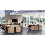 KK-180/80 íróasztal kerekített sarkokkal