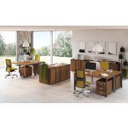"""GA-160/120-J-TR L"""" alakú operatív íróasztal Trend fémlábbal jobbos kivitelben 160x x120 cm-es méretben"""