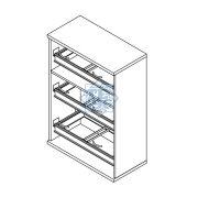 111-3F-REG Három rendező magas regiszterfiókos szekrény