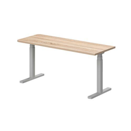 EK-180/62-EL Egyoldalon kerekített íróasztal, elektromosan állítható fémlábbal 180 x 62 cm-es kivitelben