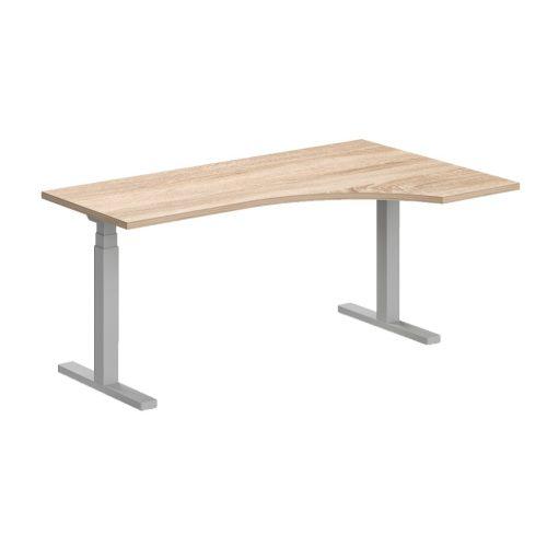 """GA-180/102-J-EL L"""" alakú operatív íróasztal elektromosan állítható fémlábbal jobbos kivitelben 180x x120 cm-es méretben"""