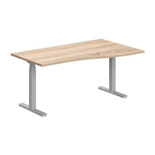 GN-160/100-J-EL Operatív íróasztal elektromosan állítható fémlábbal jobbos kivitelben 160x x100 cm-es méretben