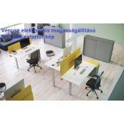 GN-180/100-J-EL Operatív íróasztal elektromosan állítható fémlábbal jobbos kivitelben 180x x100 cm-es méretben