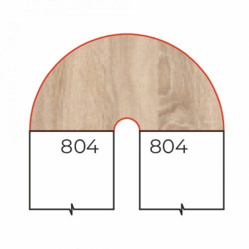 HE-93/180-BI asztaltoldat (180 fokos belsőíves csatlakozó elem)
