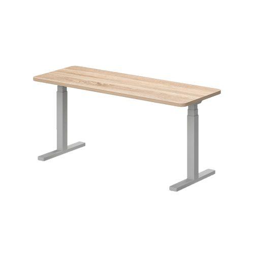 KK-140/62-EL Kétoldalon kerekített íróasztal, elektromosan állítható fémlábbal 140 x 62 cm-es kivitelben