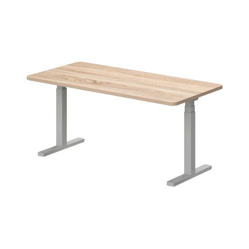 KK-180/80-EL Kétoldalon kerekített íróasztal, elektromosan állítható fémlábbal 180 x 80 cm-es kivitelben