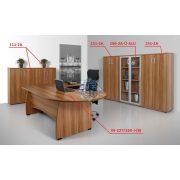 VE-227/160-B vezetői íróasztal (227 x 160 cm-es íves vezetői)
