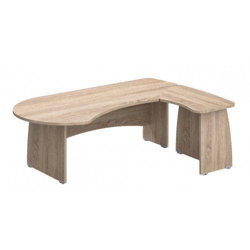 VE-227/160-J vezetői íróasztal (227 x 160 cm-es nagyméretű,)