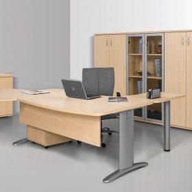 Kerekített operatív asztalok LUX fémlábbal