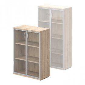 Alukeretes üvegajtós szekrények