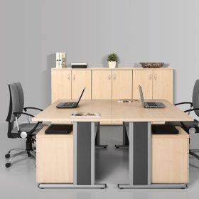 Sarkos íróasztalok AVA fémlábbal