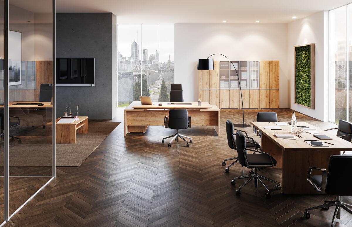 Extend vezetői irodabútor laplábbal 1