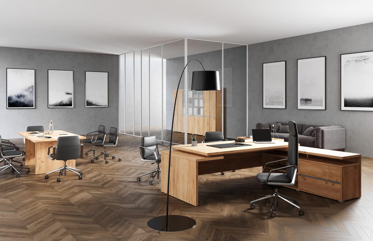 Extend vezetői irodabútor laplábbal 2